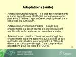adaptations suite