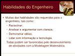 habilidades do engenheiro
