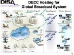 decc hosting for global broadcast system