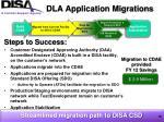 dla application migrations