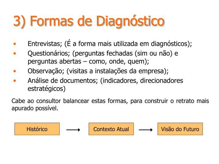3) Formas de Diagnóstico
