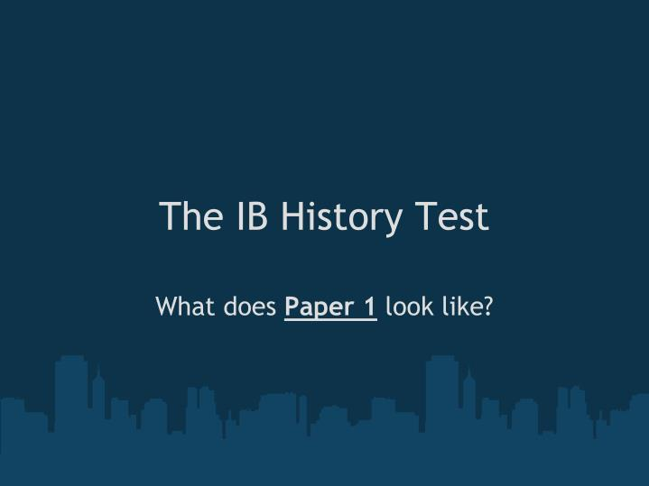 the ib history test n.