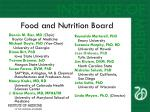 food and nutrition board