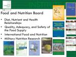 food and nutrition board1