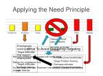 applying the need principle