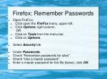firefox remember passwords