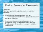 firefox remember passwords1