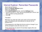 internet explorer remember passwords