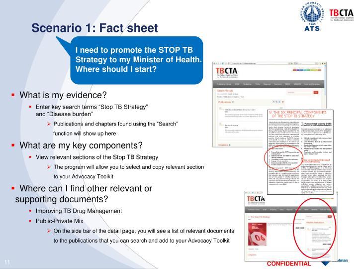 Scenario 1: Fact sheet