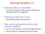 interrupt handlers 1