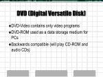 dvd digital versatile disk