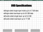 dvd specifications
