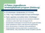 a platon jugendforum tehets gfejleszt program salzburg