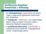 guilford s hoepfner kreativit s tehets g2
