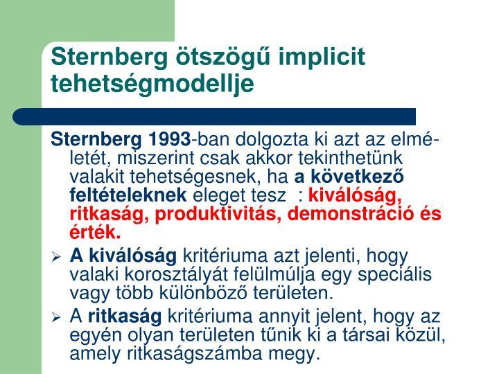 Sternberg ötszögű implicit tehetségmodellje