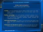 online course evaluation