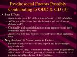 psychosocial factors possibly contributing to odd cd 3
