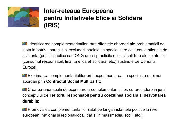 Inter-reteaua Europeana                                     pentru Initiativele Etice si Solidare