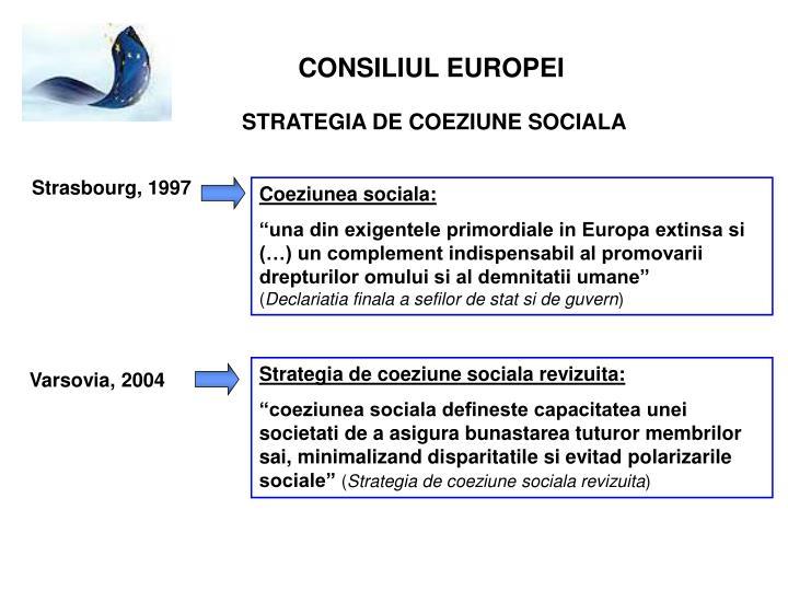 Strategia de coeziune sociala