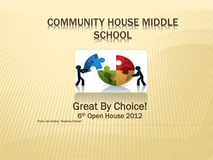 Great by choice 6 th open house 2012 from jim collins great by choice