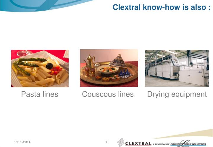 clextral know how is also n.