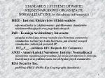 standardy i systemy otwarte mi dzynarodowe organizacje normalizacyjne w dziedzinie informatyki1