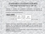 standardy i systemy otwarte smtp simple mail transfer protocol rfc 821