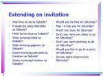 extending an invitation