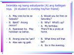 iniimbita ng isang estudyante a ang kaibigan niya a student is inviting his her friend