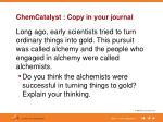 chemcatalyst copy in your journal