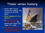 titanic verses iceberg