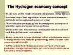 the hydrogen economy concept