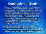 conclusion of study