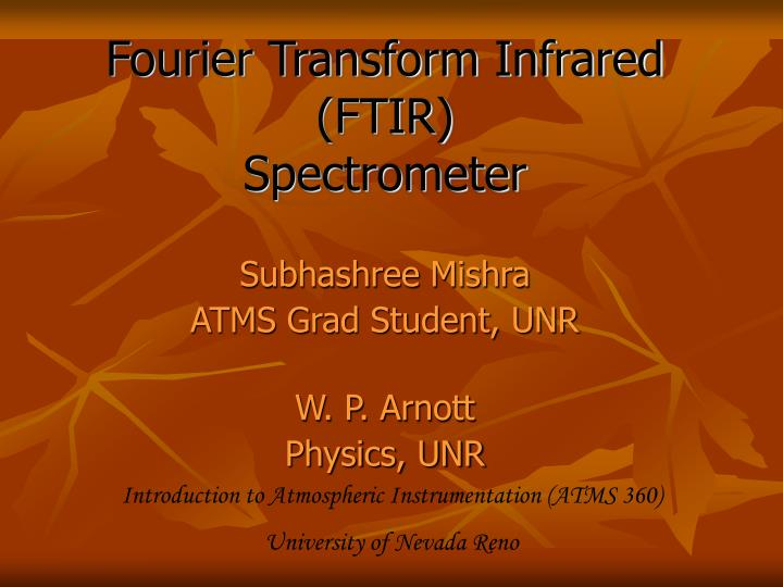 fourier transform infrared ftir spectrometer n.