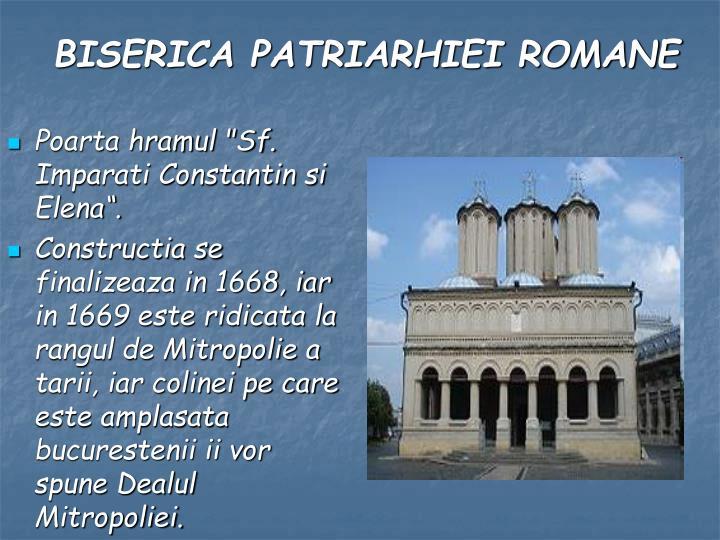 """Poarta hramul """"Sf. Imparati Constantin si Elena""""."""