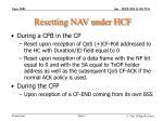 resetting nav under hcf