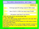 flc hcal characteristics next steps