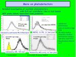 more on photodetectors