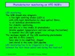 photodetector monitoring on vfe rob s