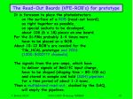 the read out boards vfe rob s for prototype