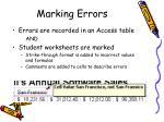 marking errors