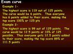 exam curve
