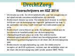 voorschrijvers en igz 2014