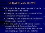 negatie van de wil