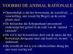 voorbij de animal rationale