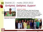 distrikt 21 motto 2010 2012