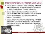 international service program 2010 2012