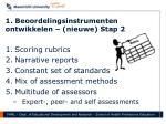1 beoordelingsinstrumenten ontwikkelen nieuwe stap 2