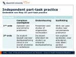 independent part task practice onderdeel van stap 10 part task practice