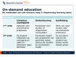 on demand education nu onderdeel van de nieuwe stap 3 sequencing learning tasks
